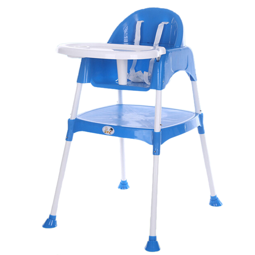 Multi Functional Baby Kids High Chair Adjustable Table Seat Toddler Feeding Highchair (Blue)