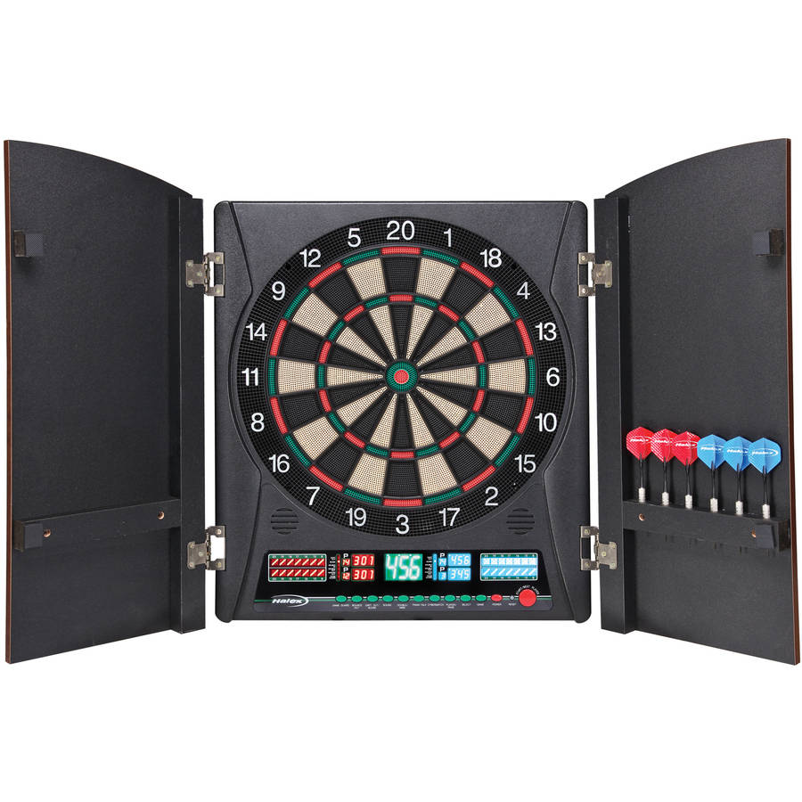 Halex Millennia Dartboard with 38 Games and 167 Variations by Ball Bounce and Sport