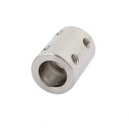 8mm to 10mm Bore Stainless Steel Robot Motor Wheel Coupling Coupler Silver (Stainless Steel U Channel For 10mm Glass)