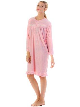 Product Image Casual Nights Women s Long Sleeve Micro Fleece Cozy Night Gown fd49b403c