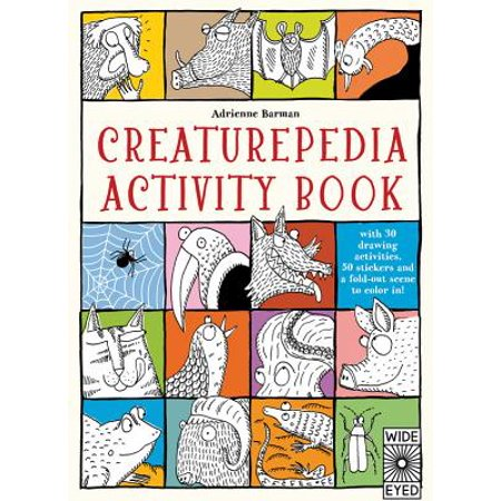 Creaturepedia Activity Book : With 30 Drawing Activities, 50 Stickers and a Fold-Out Scene to Color In!](Halloween Color And Activity Book)