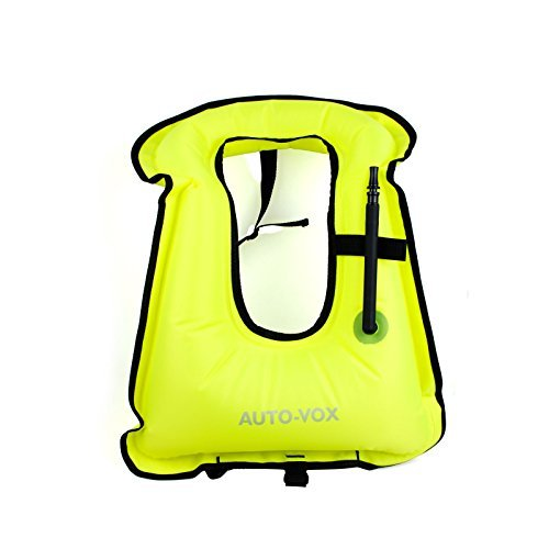 AUTOVOX Inflatable Life Jacket Universal Adults Type Life Jacket with Adjustable Straps Sailing Swimming Life Vest for... by AUTO-VOX
