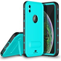 iPhone Xs Max Waterproof Case, CaseTech DOT Series, Shockproof Underwater IP68 Certified Case with Built-in Screen Protector Full Body Cover, 2018 Releasted 6.5 inch