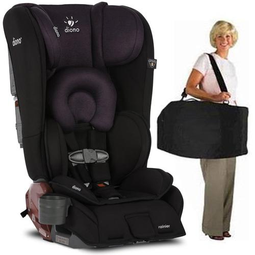 Diono Rainier Convertible Car Seat with Carry Bag - Black Plum