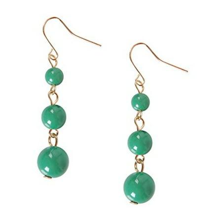 Coco Dangles - Mini Round Beaded Ball Dangling Drop Earrings, by Humble Chic NY Black Bead Drop Earrings
