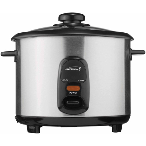 Brentwood 5-Cup Rice Cooker, Stainless Steel