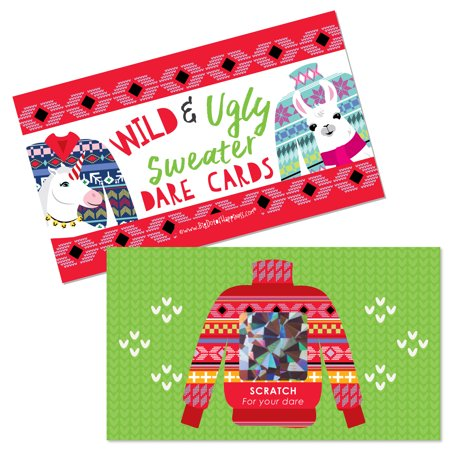 Wild and Ugly Sweater Party - Holiday and Christmas Animals Party Game Scratch Off Dare Cards - 22 - Christmas Party Game