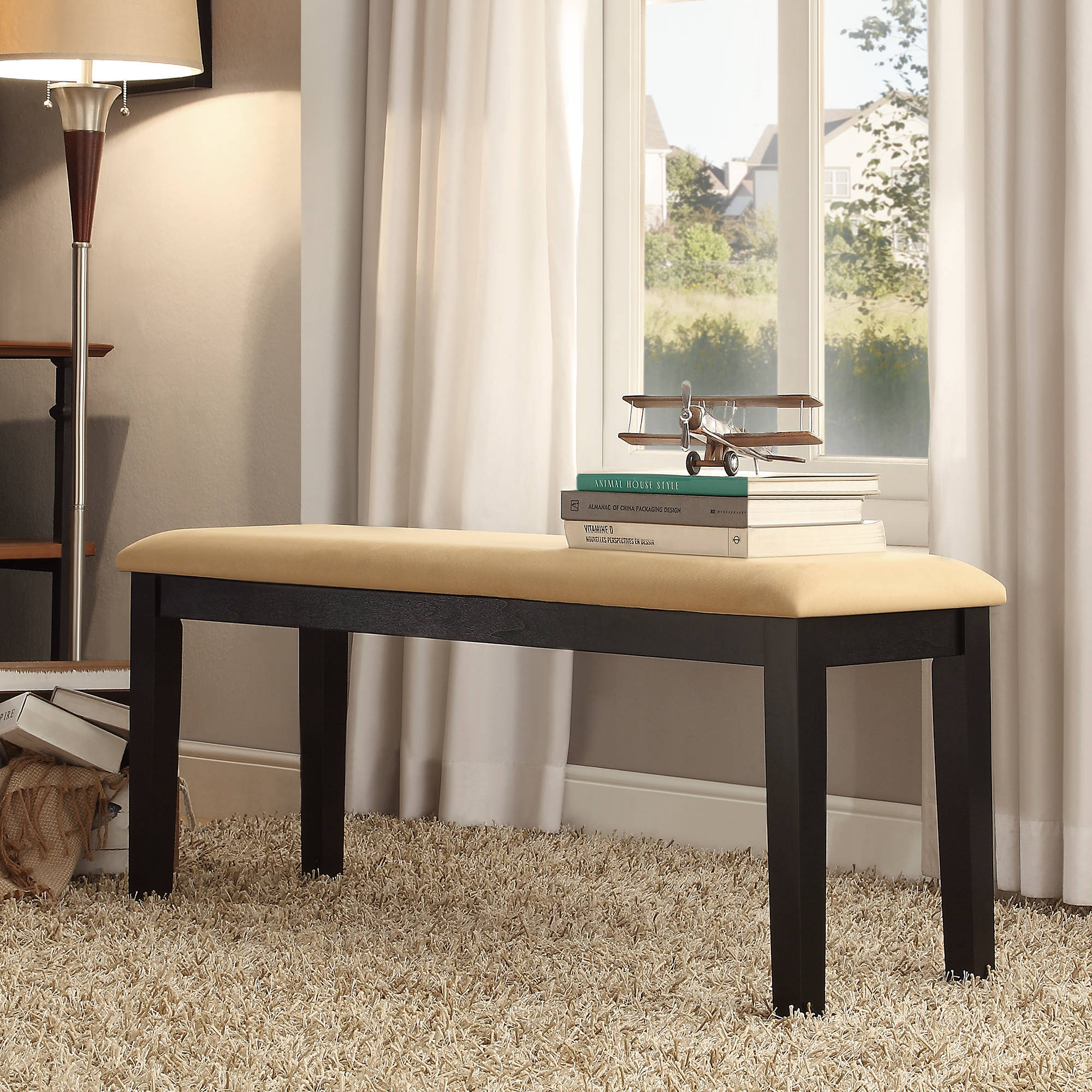 Lexington Dining Bench, Black