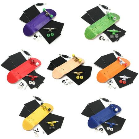 Portable Mini Complete Fingerboard Finger Skate Board Grit Box Foam Tape Wood GB08 Kids Adults wooden skateboard Gift - Mini Foam Fingers