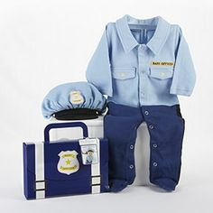 Baby Aspen Big Dreamzzz Baby Officer 2 Piece Layette Set