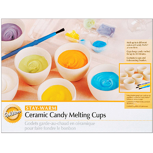 "Wilton Candy Melts?? 2""x1.5"" Ceramic Candy Melting Cups & Bowls, 6 ct. 1904-1067"