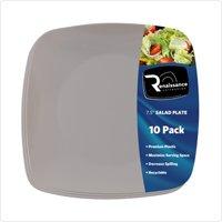 """7 1/2"""" Sq. Renaissance Beige Plastic Square Salad Plates,Pack of 10 EA"""