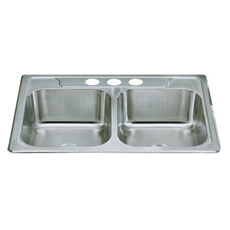 Sterling by Kohler Middleton® 1470X-3 Double Basin Drop In Kitchen Sink