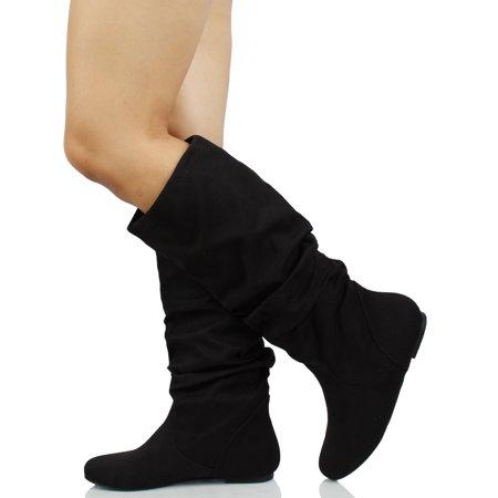 Soda Women's Slouchy Knee High Flat Boot
