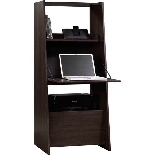 hometrends modern secretary desklaptop armoire dakota oak finish