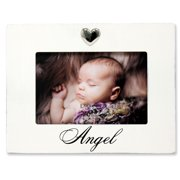 6x4 White Wash Angel Picture Frame Heart Ornament
