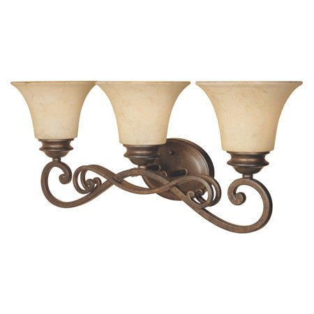Designers Fountain 81803 Mendocino 3 Light Bath Bar in Forged Sienna