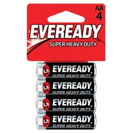 Eveready Super Heavy Duty Batteries AA 4 Count Each