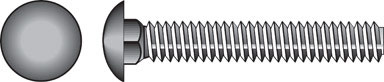 Steel 25-Pack Zinc-Plated Silver 5//8 x 10-Inch Hillman 240411 Carriage Bolt