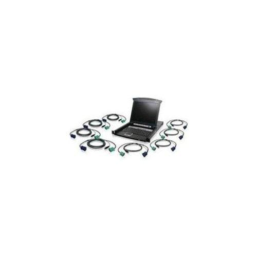 IOGEAR 8-Port USB PS 2 Combo VGA KVM Switch with USB KVM Cables (gcs1808kitutaa) by IOGEAR