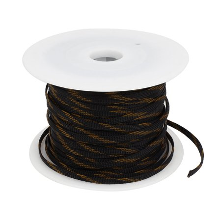 6mm Width Car Audio Sleeving Braided Polyester Cable Cover ...