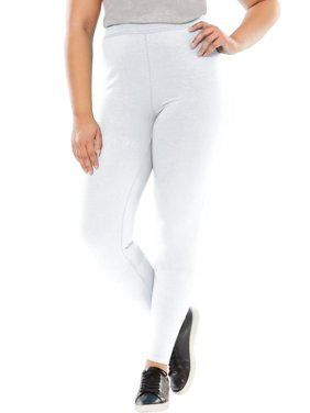 55e35bf27f029 Product Image Woman Within Plus Size Tall Stretch Cotton Legging