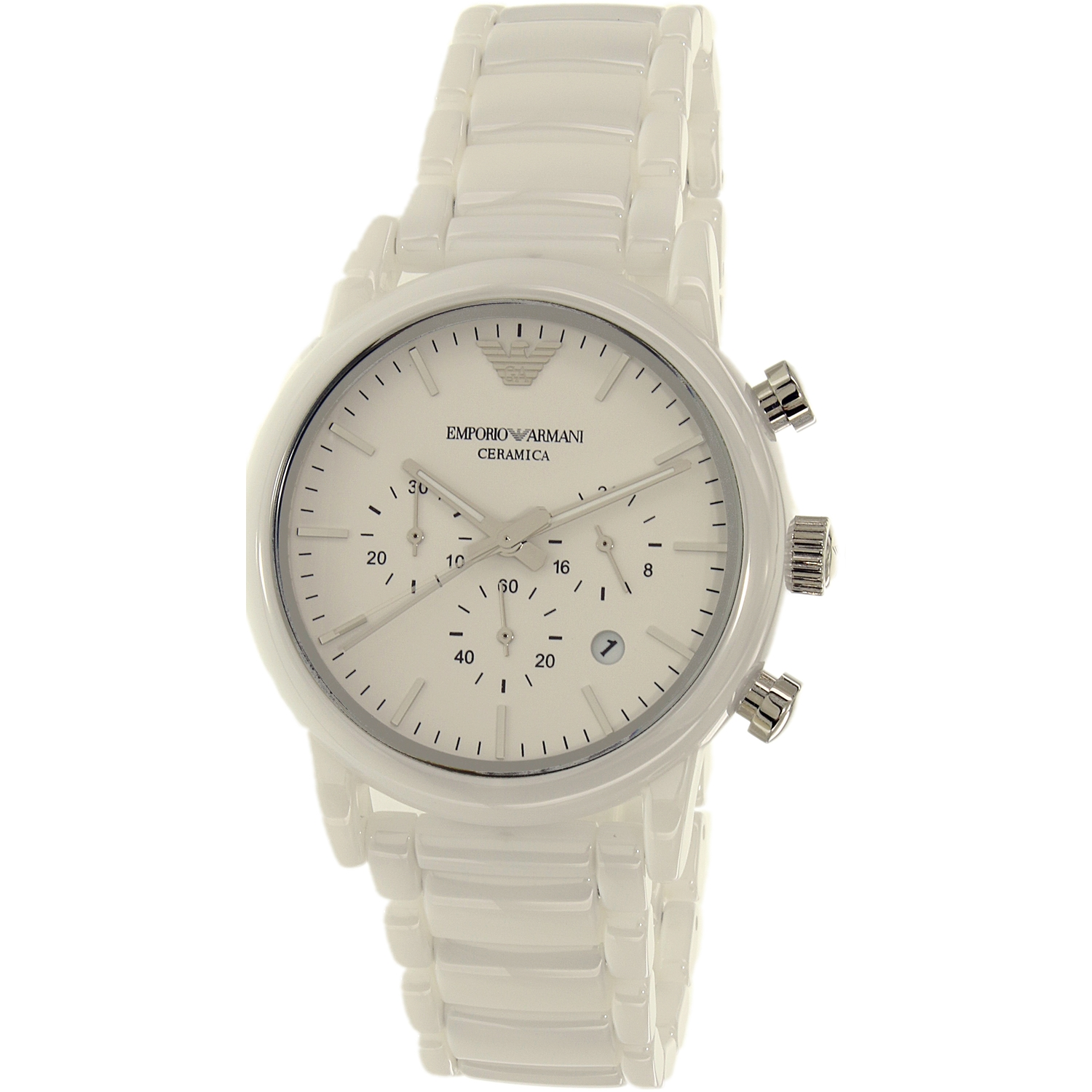 Emporio Armani Men's AR1499 White Ceramic Quartz Dress Watch