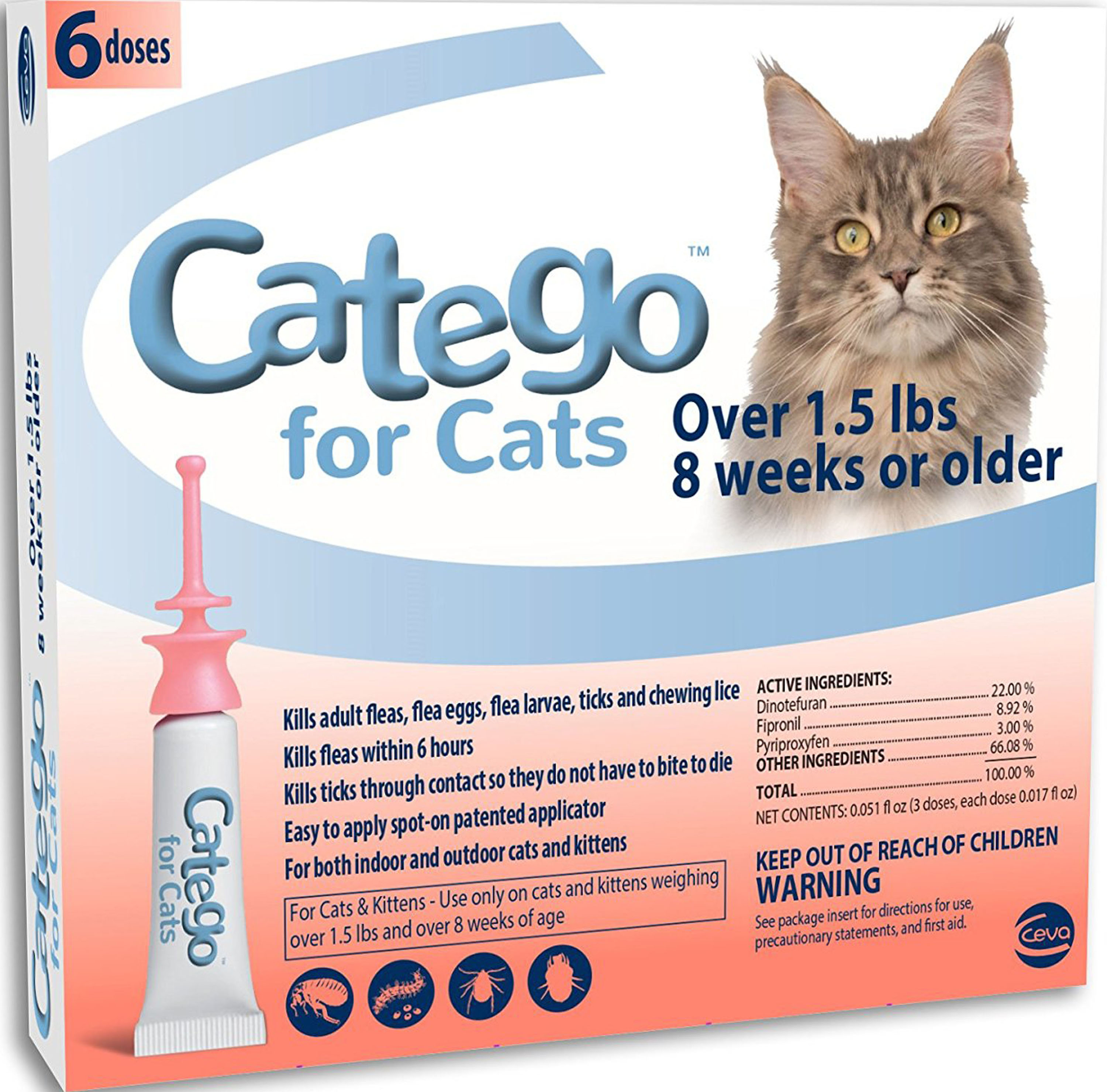 CATEGO FOR CATS OVER 1.5 LBS by Henry and Clemmies