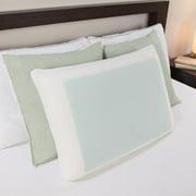 Comfort Memories  Gel Bed Pillow - Whtie/Green
