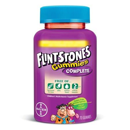 Flintstones Gummies Complete Children's Multivitamins, Kids Vitamin Supplement with Vitamins C, D, E, B6, and B12, 70 Count - Walmart.com