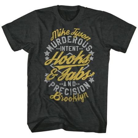 Iron Mike Tyson Grey Hooks   Jabs Murderous Intent Precision Boxer Adult T Shirt