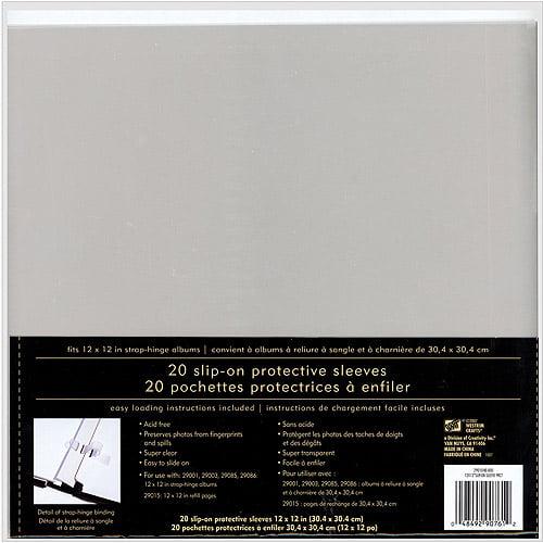 "Strap Hinge Slip-on Page Protectors 12""x"