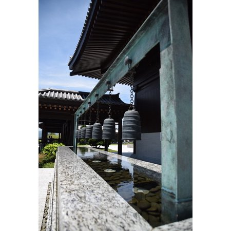 Canvas Print Water Bell Zen Buddhist Meditation Stretched Canvas 10 x 14 - Zen Bell