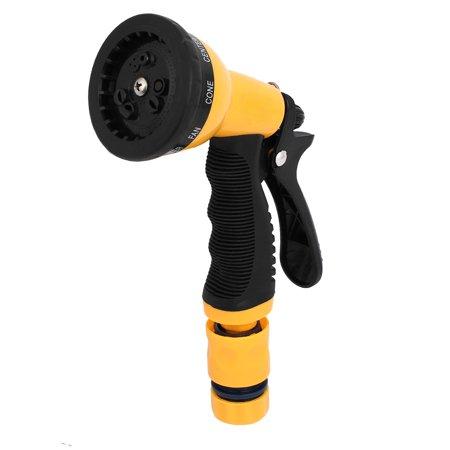 Garden Lawn Car 6 Spraying Pattern Adjustable Water Gun Nozzle Spray Set 2 In 1
