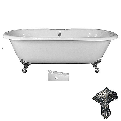 """Barclay Cast Iron Double Roll Top Tub 67"""""""