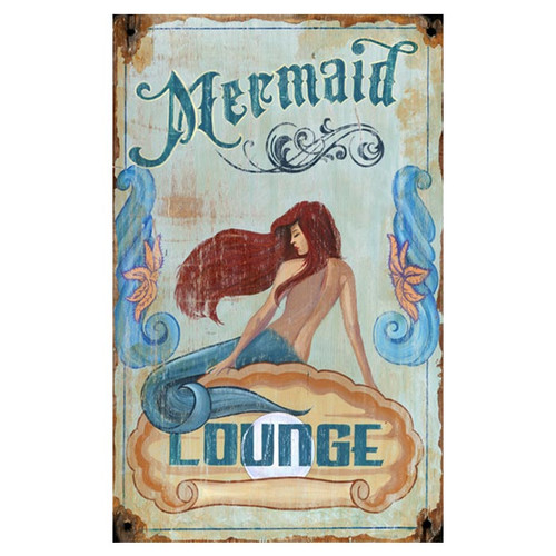 Red Horse Arts Red Horse Mermaid Vintage Advertisement Plaque