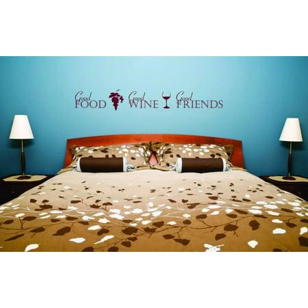 New Wall Ideas Good Food Good Wine Good Friends Fashion 10x40
