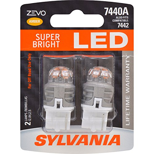 SYLVANIA ZEVO 7440 T20 Amber LED Bulb, (Contains 2 Bulbs)