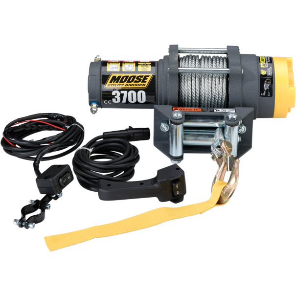 Moose Racing 3700LB Winch With Wire Cable