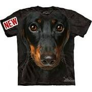 Daschund Head Adult T-Shirt by - 10-3334