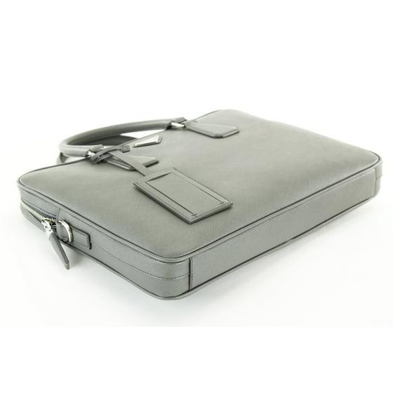 8c4db0a1176f Prada - Prada Grey Leather Mens Briefcase/Attache - Walmart.com