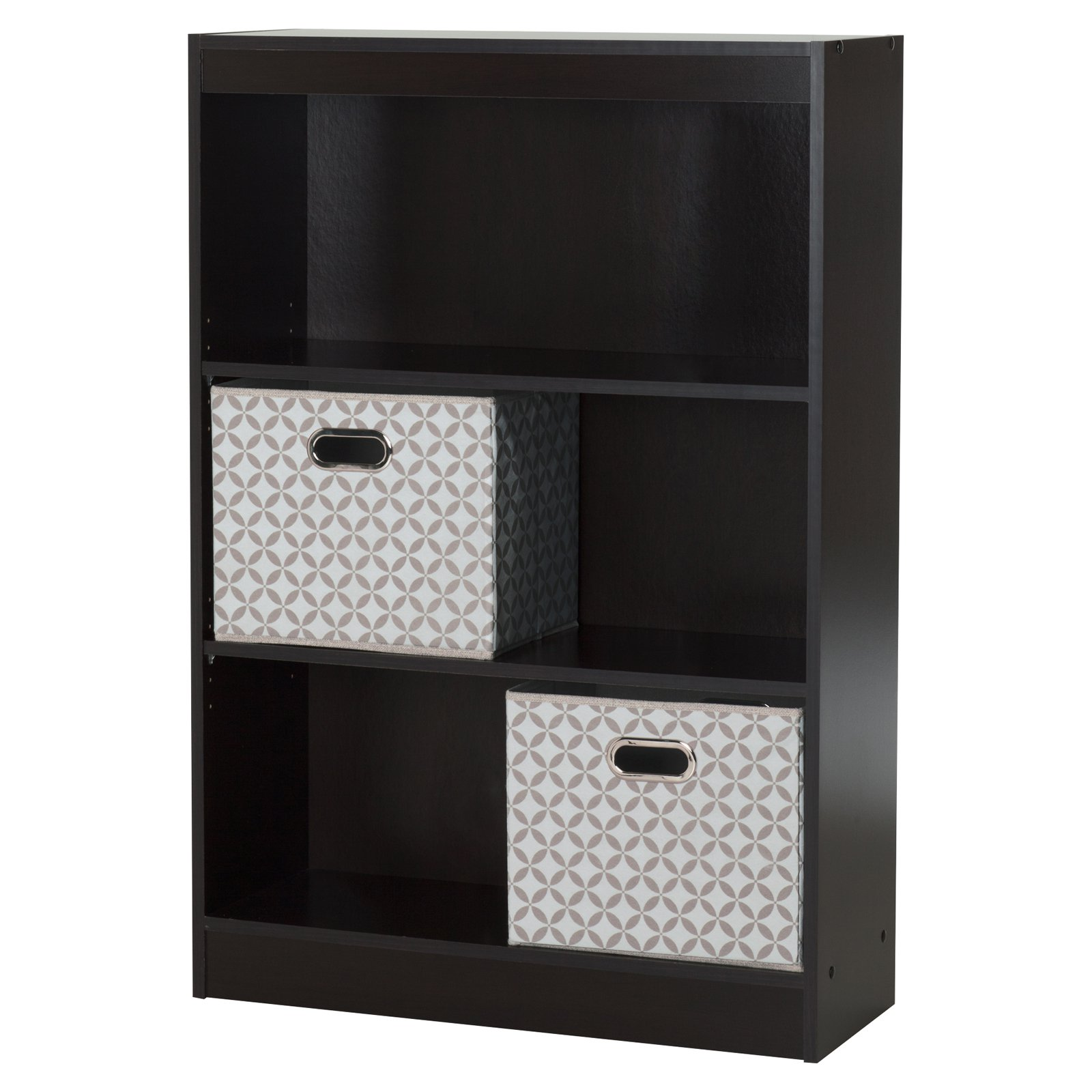 3 Shelf Bookcase with 2 Fabric Storage Baskets by South Shore by South Shore