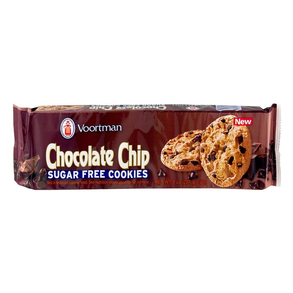 Voortman Chocolate Chip Sugar Free Cookies, 8.0 OZ - Walmart.com