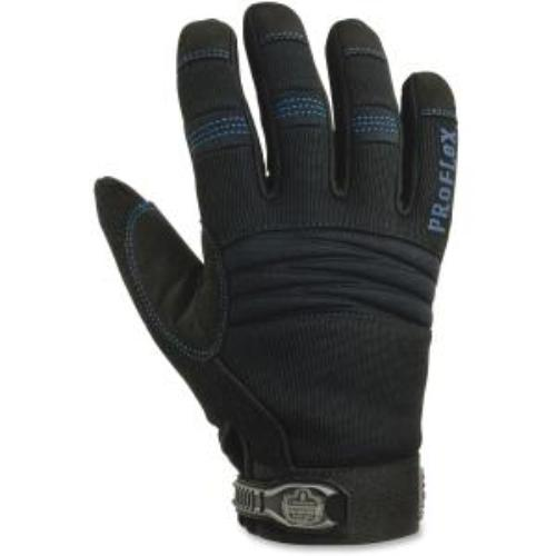 Proflex Thermal Utility Gloves - 8 - Medium Size - Black - Synthetic Leather, Woven, Terrycloth, Spandex, Neoprene - Thinsulate Lining, Reinforced Palm Pad, Elastic Cuff, Padded - 1pair (ego-16333)