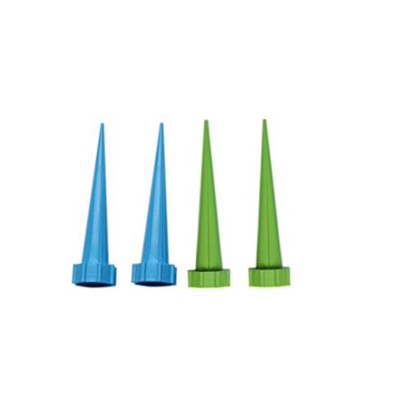 "Garden Cone Watering Spike Plant Flower Waterers Bottle Irrigation System, 5.31"" Long, Pack Of 4"