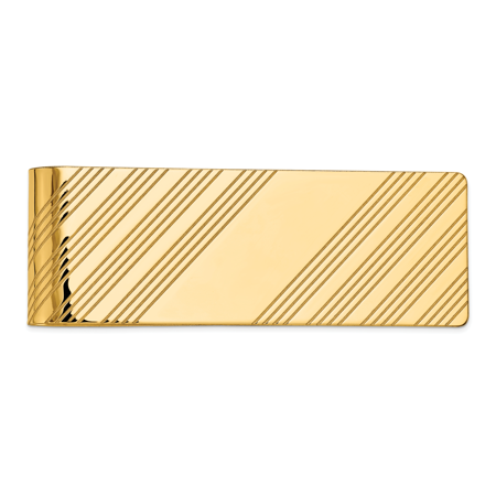 14k Yellow Gold Money Clip Man