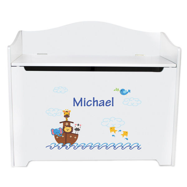 Personalized Noahs Ark Toy Box Bench Custom
