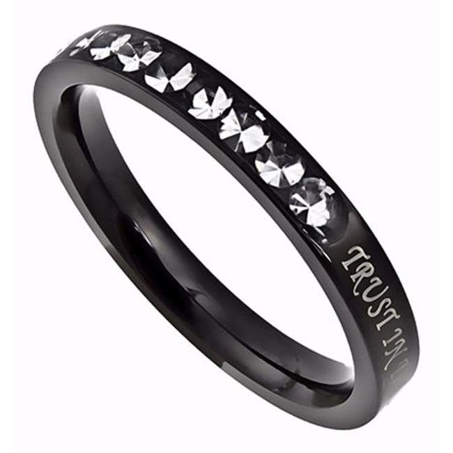 Spirit & Truth Jewelry 201750 Ring - Princess Cut-Trust-Size 9 - image 1 de 1