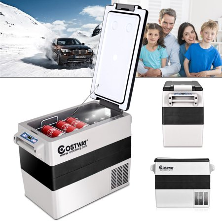 Costway 54 Quarts Portable Electric Car Cooler Refrigerator/Freezer Compressor Camping ()