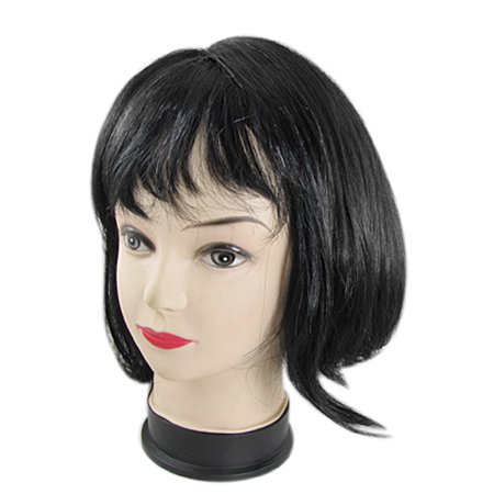 Unique Bargains Full Fringe Short Haircut Style Cosplay Black (Best Short Haircuts For Black Hair)